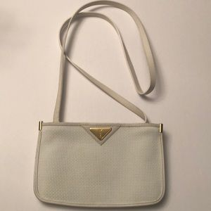 Vintage YSL white double pouch crossbody *Rare*🌟